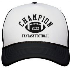 Fantasy Football Champion Hat Custom Year