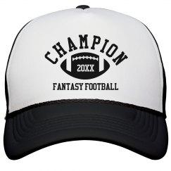 Fantasy Football Champion Hat Custom Year