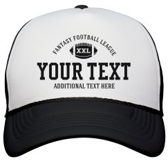 Custom Text Fantasy Football League Hats