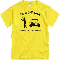 Golfaholic Golf Tshirt