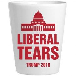 Shot Glass Of Liberal Tears Trump