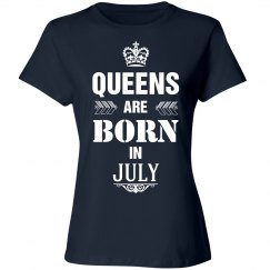 Queens are born in July shirt