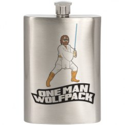 One Man Wolf Pack Flask