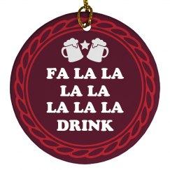 Funny Christmas Fa La La Drink