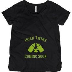 Irish Twins St Patrick Maternity Top