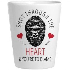 Harambe Valentine Shot Glass