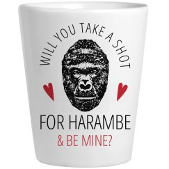 Take A Shot For Harambe Valentine