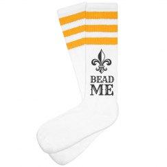 Bead Me This Mardi Gras Socks