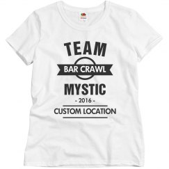Custom Team Mystic Bar Crawl Tee