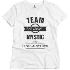 Custom Team Mystic Bar Crawl Tee