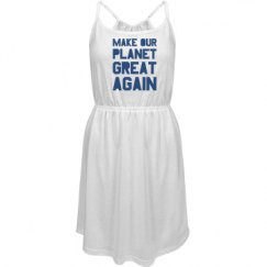 Make our planet great again blue dress.