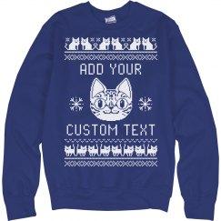Custom Cat Themed Ugly Sweater