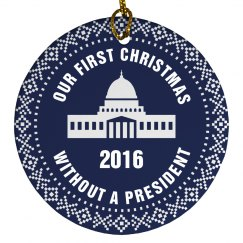 First Xmas Without A President