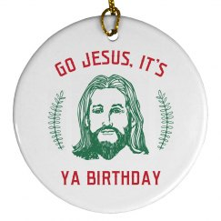 Go Jesus Festive Decor