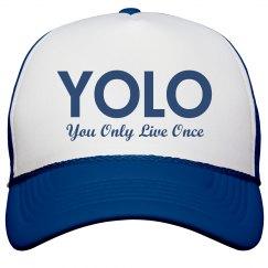 Blue YOLO Trucker Hat