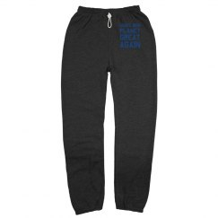 Make our planet great again blue sweatpants.