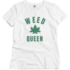 Simple Cute Weed Queen