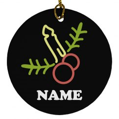 Funny Joke Christmas Ornament