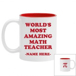 World's Custom Best Teacher Mug