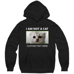 I Am Not A Cat Funny Custom Cat Lawyer Hoodie