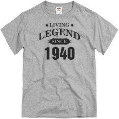 Custom Living legend since 1940 shirt