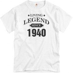 Custom Living legend since 1940 shirt