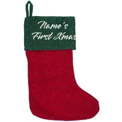 Custom Name First Christmas Decor