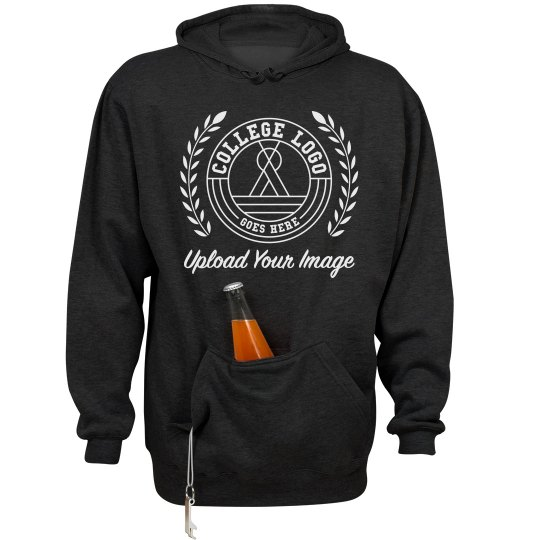 Add Your Logo Beer Holding Front Pocket