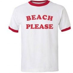 Beach Please Ringer Tee