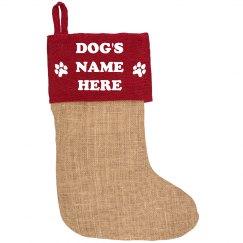 Custom Dog Name Holiday Decor