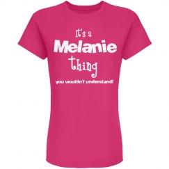 It's a melanie thing