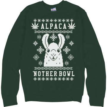 Alpaca'nother Bowl Xmas Weed Llama