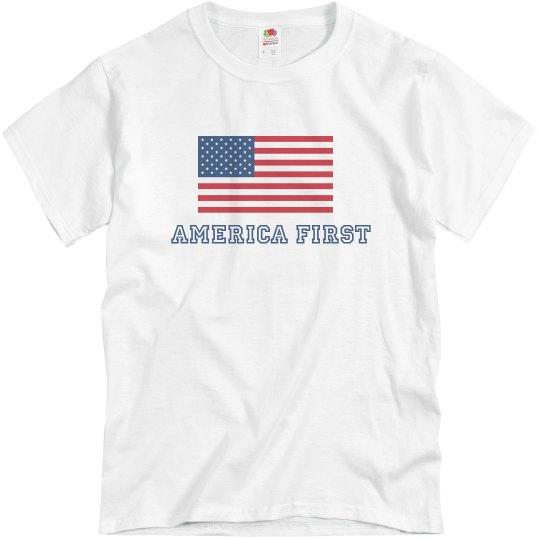 America First American flag