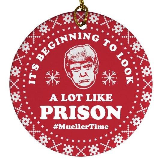 Anti-Trump Ornament Mueller Time