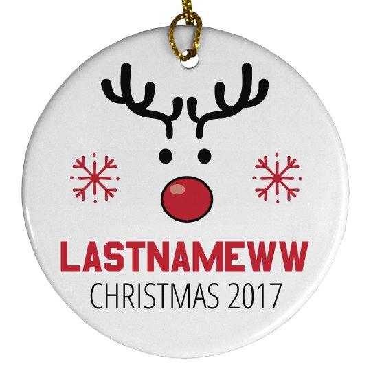 Autogen Popular Last Names Ornament