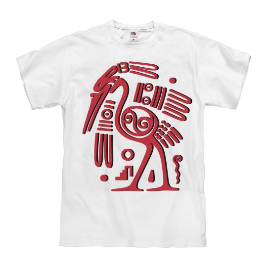 Aztec Crane Glyph T-shirt