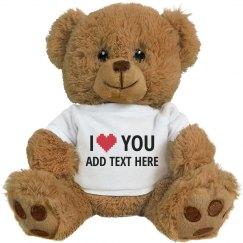 Custom Name Heart Loves You