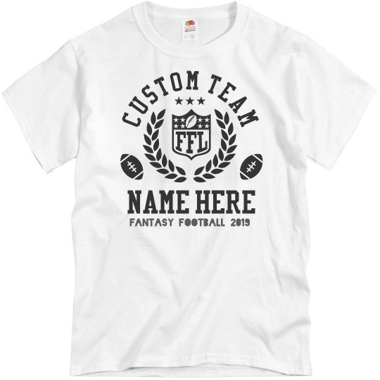 d8bc4aab Custom Team Fantasy Football FFL Unisex Basic Promo T-Shirt