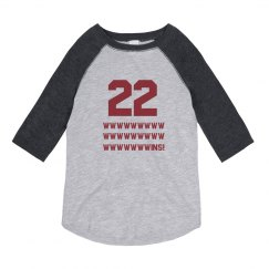 Streak 22 Wins Youth Raglan
