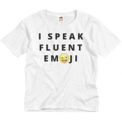 I Speak Fluent Emoji Kids T-Shirt