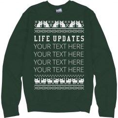 Custom Xmas Cat Sweater