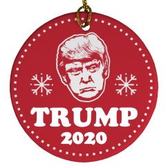 Trump 2020 Christmas Ornament