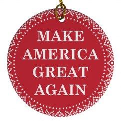 Make America Great Again Ornaments