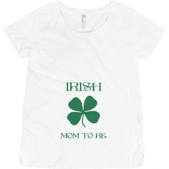 Irish Mom To Be St Patricks Maternity Top