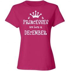 Princesses are born in December