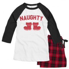 Ladies Raglan Pajama Set