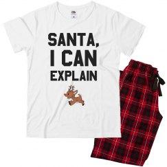 Dear Santa Family Pajamas
