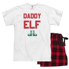 Daddy Elf Family Pajamas