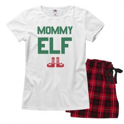 Mommy Elf Family Pajamas