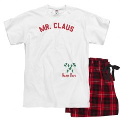 Mr. Claus Custom Xmas Pajamas